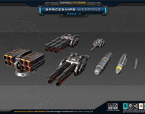 Spaceships Weapons Pack II 3D asset