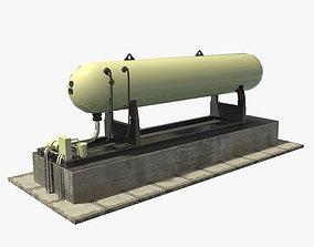 Gas Tank 3D asset low-poly