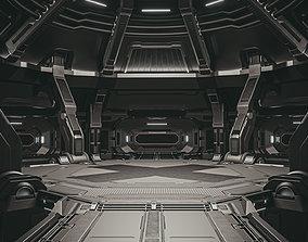 Sci-fi scene black abyss 3D