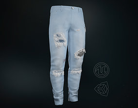 Ripped Jeans 3D model game-ready