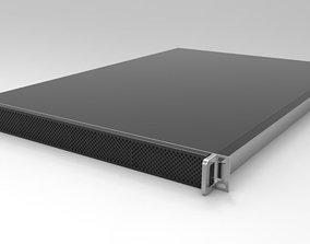 3D model 1RU 4 Bay Server server