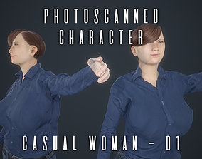 3D model Photoscanned Character - Casual Woman 01