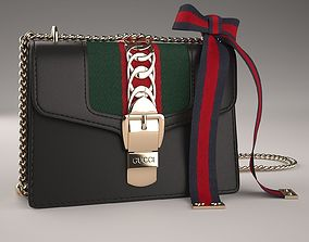 Gucci Sylvie Leather Mini Chain Bag 3D asset