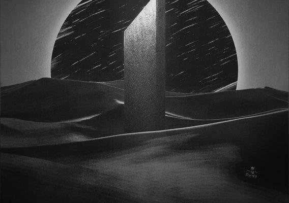 Day 13 - Dawn of Dunes - Inktober 2020 - Blender 3D