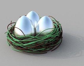 eggs in nest 3D printable model