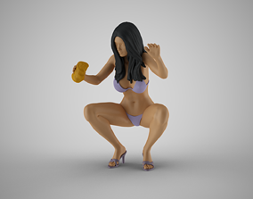 Woman Bike Wash 3D printable model