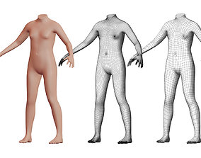 3D Character 07 High and Low-poly - Body male