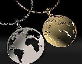 3D printable model earth pendants