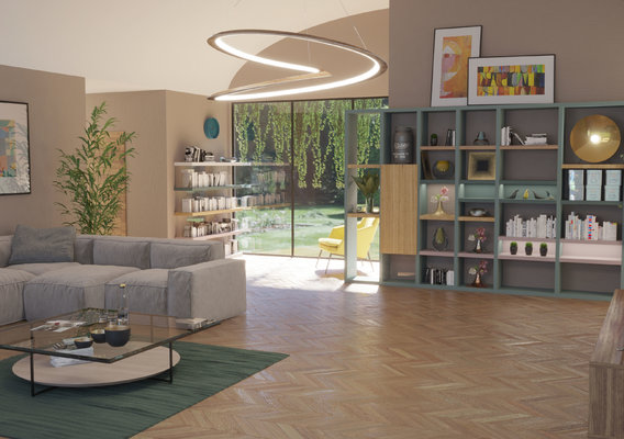 Open Spaced living room