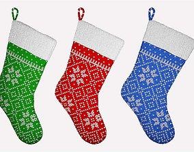 3D Christmas Socks santa