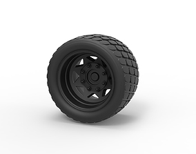 Diecast Offroad wheel 14 3D print model