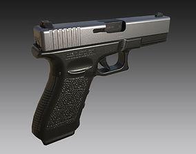 Glock 17 3D asset low-poly