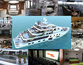 3D Mega Yatch With Interior