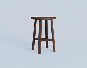 3D asset low-poly Chair 02 Var 05