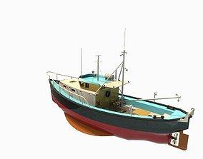 fishing trawler 3D model