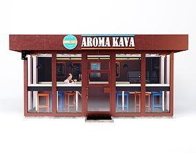 Coffee Shop window 3D