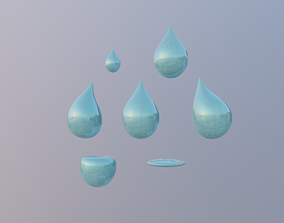3D model Droplet with Shapes