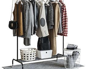 IKEA RIGGA Floor Hanger 3D model