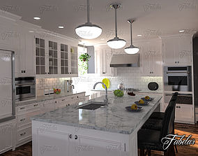 3D model cook modern Kitchen