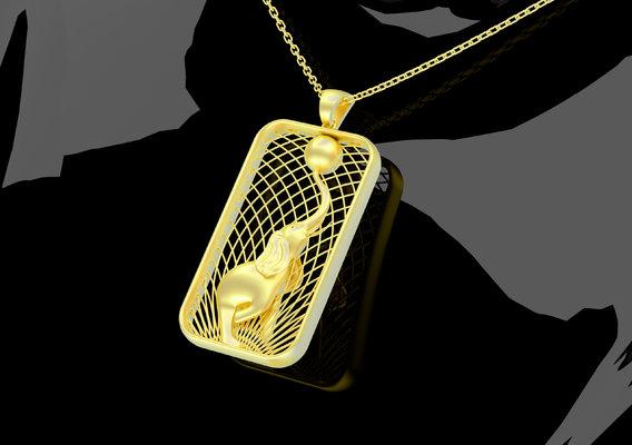 Sculpture Elephant Pendant Jewelry 3D Print Model