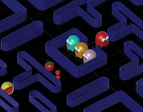 3D model animated Arcade Classics Volume 1 PacMan
