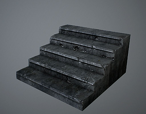 3D model Old Stairs