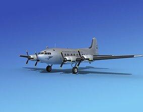 3D model Boeing 307 Stratoliner Pan American 1