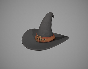 3D model Witch Hat - Orange Strap