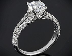 Vintage Collection Diamond Ring 3D print model