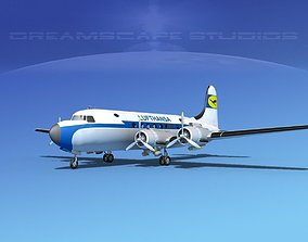 3D model Douglas DC-4 Lufthansa