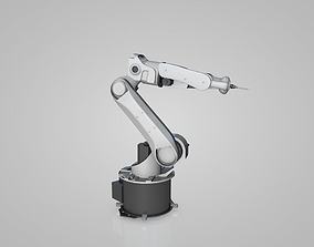 3D animated industrial robot arms