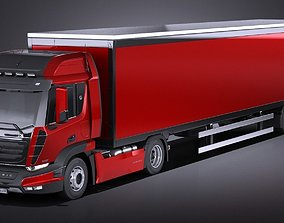 Generic Semi Truck with Trailer 2016 3D