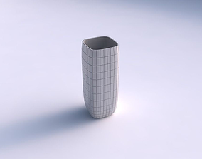 3D printable model Vase quadratic tall with grid plates