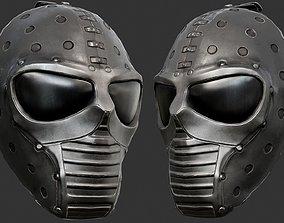 Black Ballistic Mask PBR 3D asset