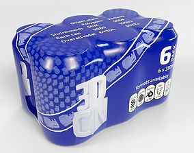 6 pack 330ml Shinkwrapped Beverage Cans 3D