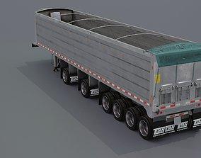 6 Axle Dump Trailer 3D asset