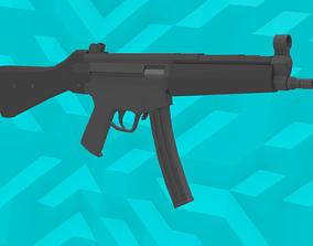 Low-Poly MP5 SMG 3D asset