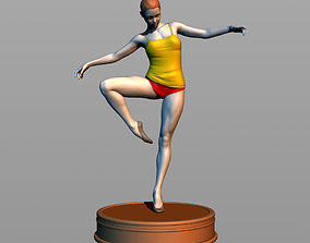 Girl dancer 3D printable model