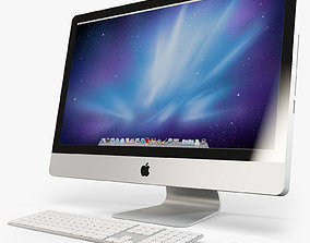 3D Apple IMac 27 with Keyboard MB110 and Magic Mouse
