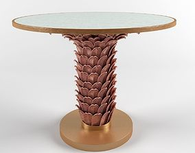 3D model Bungalow 5 Athena center dining table in gold