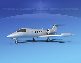 3D Learjet 35 Bare Metal