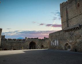 Braganza Castle - Parade ground 3D model