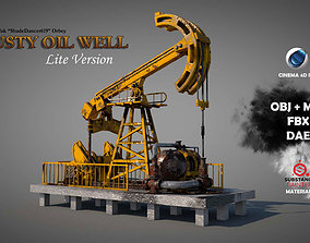 3D Rusty Oil Well LITE
