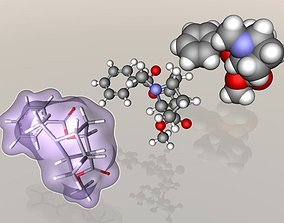 Cocaine molecule 3D