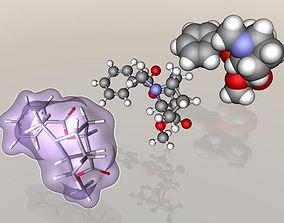 Cocaine molecule 3D model