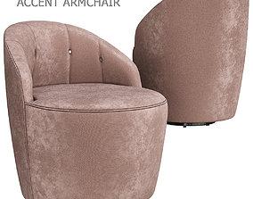 realtime Margot Swivel Accent Armchair 3d model
