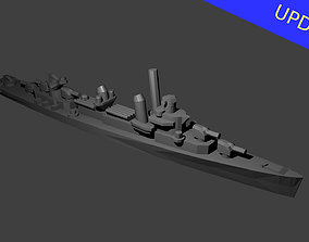 3D print model Fletcher Class Destroyer Warship