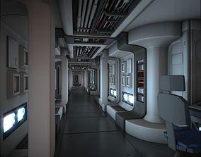 3D model Spacecraft Corridor HD