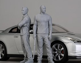 Fast and Furious 3D print model figures 3D model brain 1