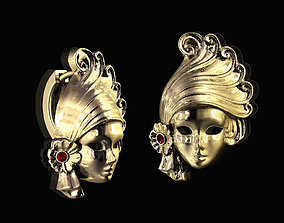 3D printable model mask Venice Mask earrings